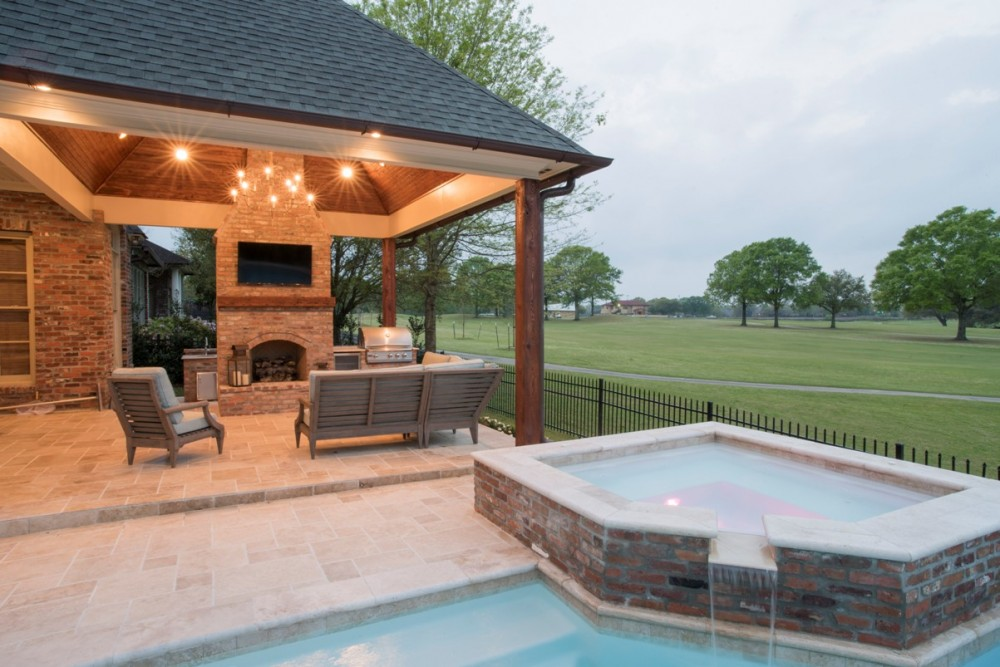 Awesome swimming pool designs baton rouge la images for Outdoor kitchen contractors