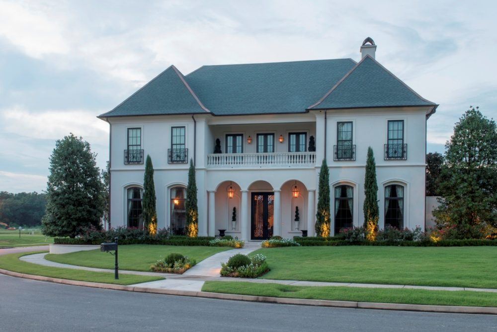 the village at magnolia square greystone custom home - Custom Home Designs Baton Rouge